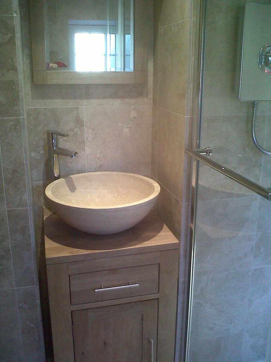 Travertine Bowls and Basins with Ottoman Honed and Filled Travertine