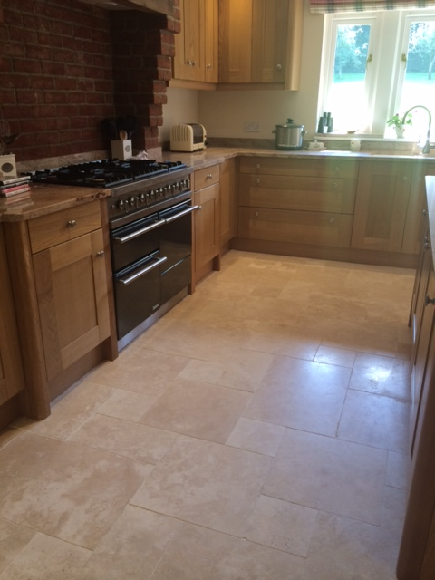 Luxor Honed and Filled Travertine 1