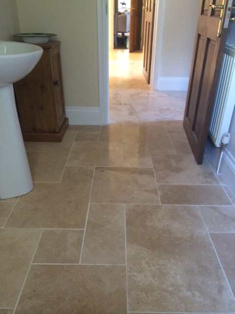 Luxor Honed and Filled Travertine 4