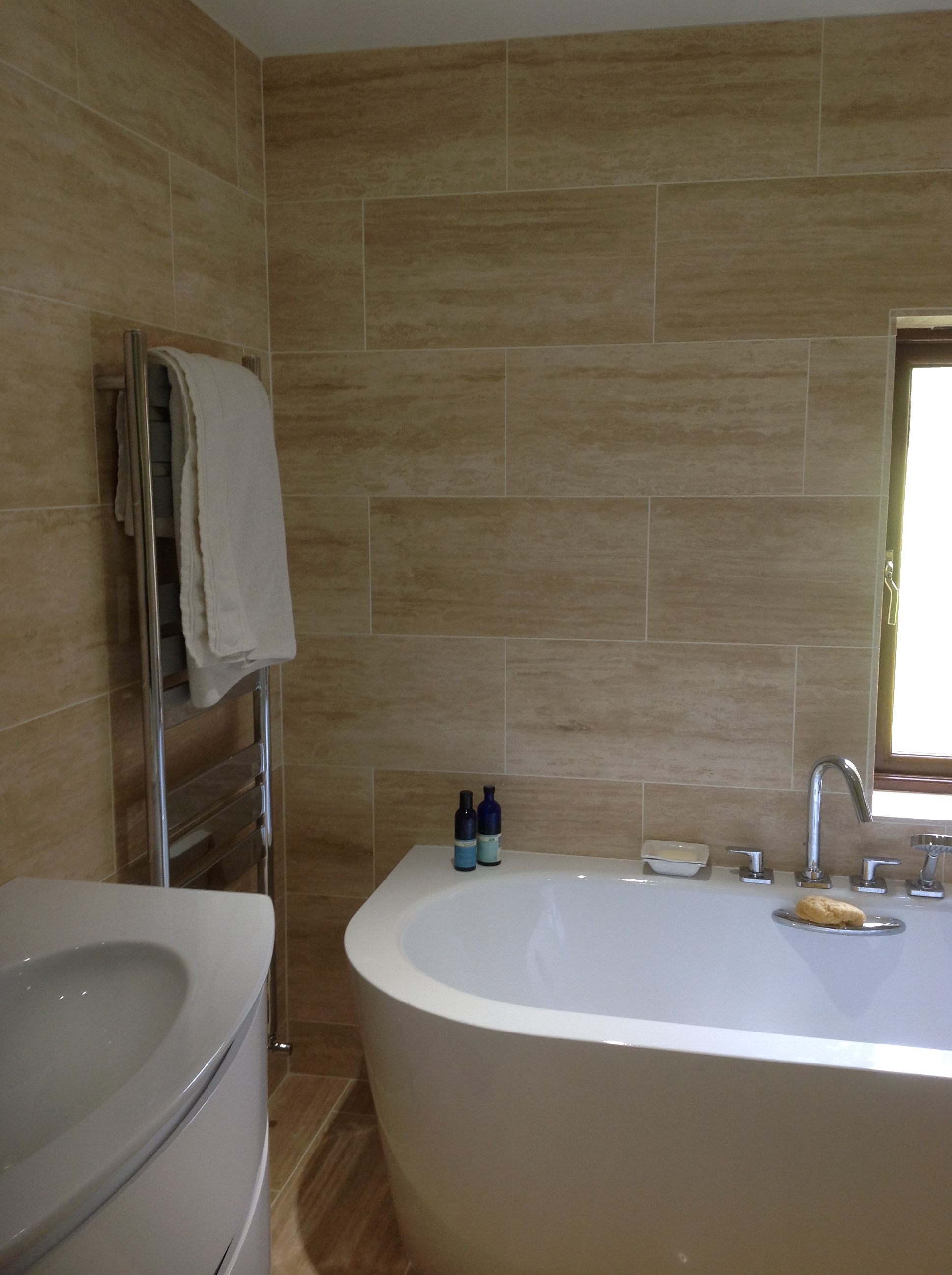 Vein Cut Polished Travertine Bristol Somerset
