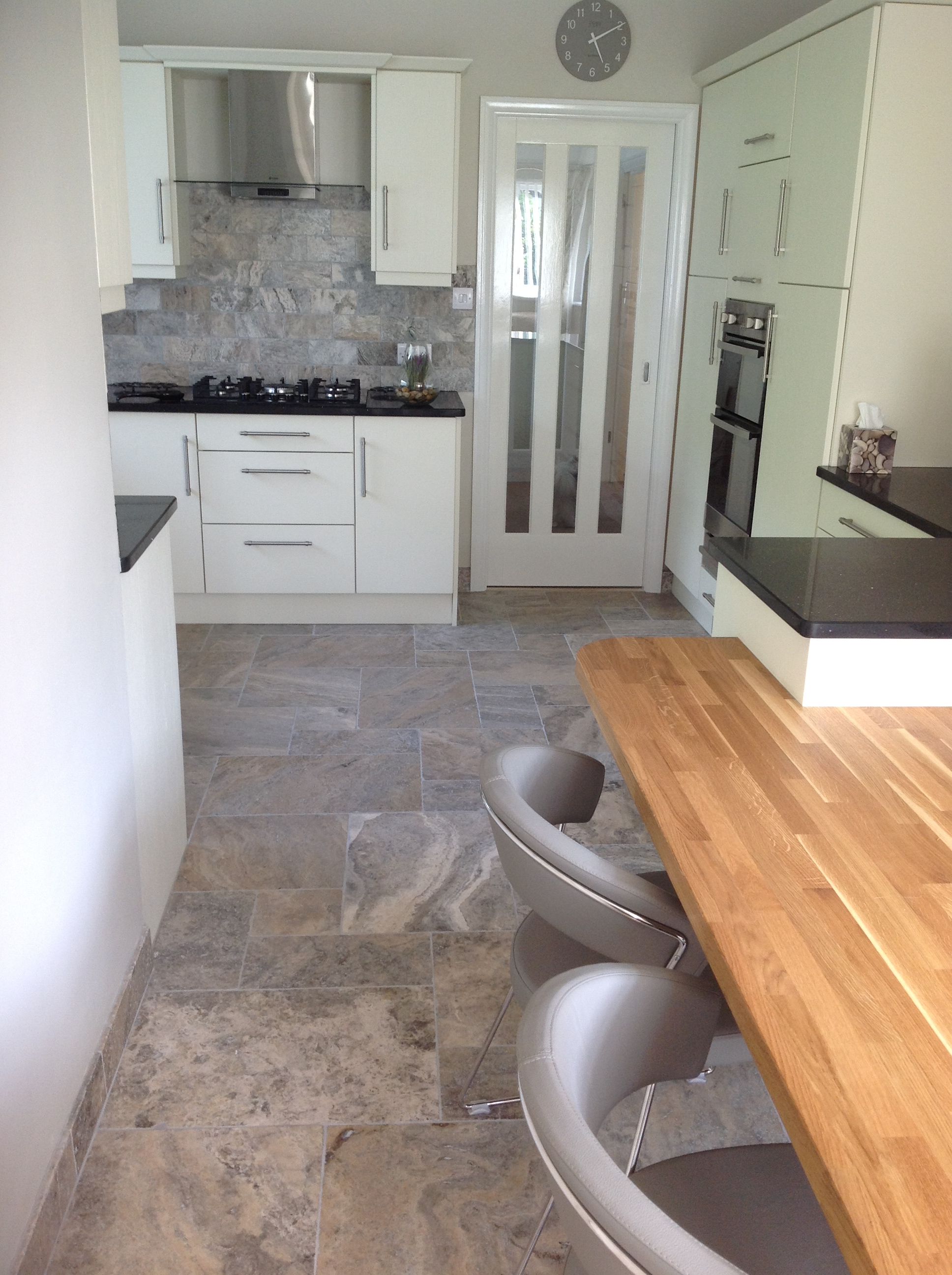 Silver Travertine Bristol